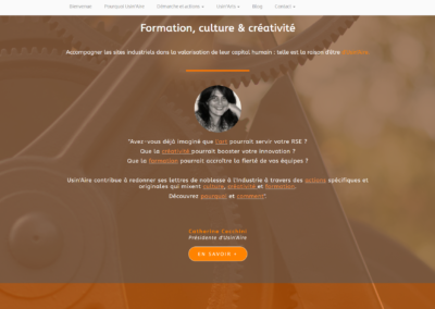 site usinaire / myriade communication