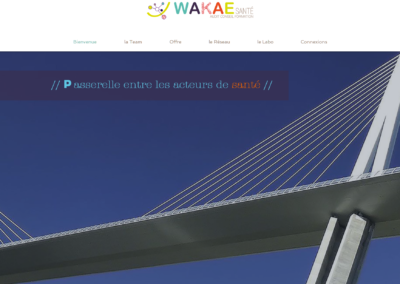 site wakae santé / myriade communication